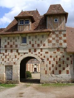Chateau with chequered walls - Normandie