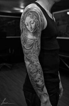L'artiste tatoueur Jun Cha réalise des tatouages magnifiques et impressionnants, tirant son inspiration de l'art classique, entre Grèce antique et Renaissance