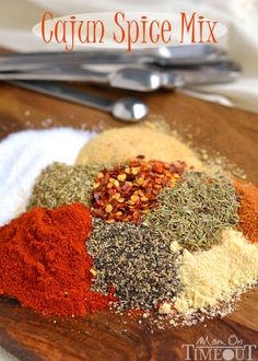 Add bold seasoning and flavor to just about any dish with this fantastic Cajun Spice Mix! | MomOnTimeout.com | #spicy #recipe #diy #spice