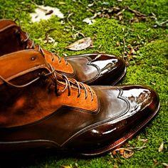 "bluscuro: ""Balmoral boot crust calf and Kudu #saintcrispins #saintcrispins…"