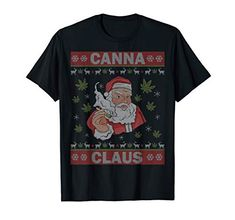 Santa Clause Joint Weed Cannabis Ugly Christmas Sweater 420 T-Shirt Weed Shop, Santa Clause, Leaf Art, Birthday Fun, Ugly Christmas Sweater, Being Ugly, Bowls, Merry