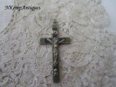 Antique crucifix 1900 by Nkempantiques on Etsy