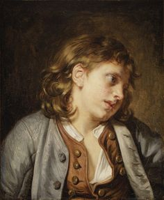 Jean-Baptiste Greuze (French, Tournus 1725–1805 Paris)Head of a Young Boy