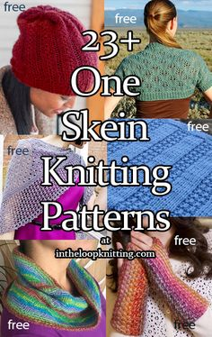 One Skein Knitting Patterns. Have a luxury yarn you love but could only afford t. One Skein Knitting Patterns. Have a luxury yarn you love but could only afford to get one skein? Or have a skein leftove. Easy Knitting Projects, Yarn Projects, Knitting For Beginners, Knitting Designs, Knitting Patterns Free, Knitting Ideas, Knitting Yarn, Baby Knitting, All Free Knitting