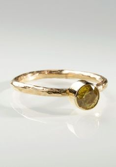 Greig Porter Yellow Sphene Stacking Ring