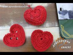 Chaveiro de Crochê Coração - Aprendendo Croche