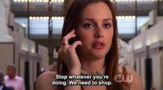 """She has her priorities straight. 