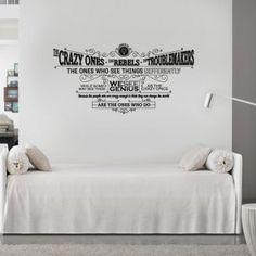 Inspire-se diariamente com esta frase de Steve Jobs na parede: Adesivo de Parede Think Different!