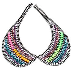 Hixon Collar Necklace - Dannijo. My fascination with fake collars goes on, unabated.