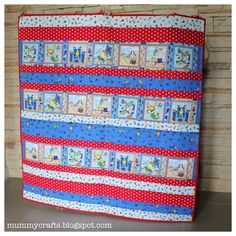 Easy Baby Strip Quilt Tutorial - The Crafty Mummy