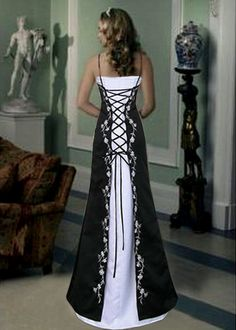 Gothic Corset Wedding Dress