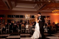 The Bride And Groom Having Their First Dance At Austin Country Club