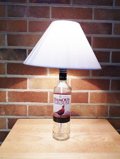 Items similar to Upcycled Whisky Bottle Table Lamp on Etsy Famous Grouse Whisky, A Table, Table Lamps, Brass Lamp, Light Bulb, Upcycle, Display, Bottle, Etsy