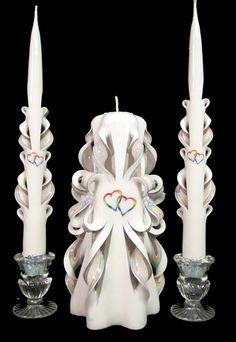 Rainbow wedding candle set from UnityCandles.com