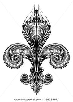 stock-vector-fleur-de-lis-decorative-design-element-or-heraldic-symbol-in-a-vintage-woodblock-style-336288152.jpg (338×470)