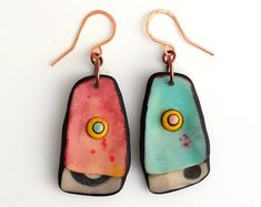 RESERVED for Paola -Polymer clay earrings