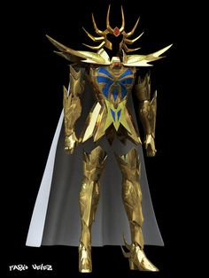 Las 2 armaduras doradas reales9