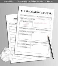 job search planner template