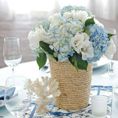 Nautical Wedding Centerpieces | Wedding Themes – Nautical Knots » Marilee and Grace Wedding and ...
