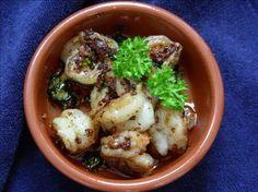 Sizzling Spanish Garlic Prawns - Tapas Style