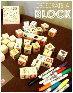 Decorate a Block - baby shower gift/game