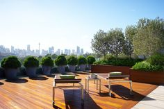 Theclients of this Glebe penthouse had vast outdoor areas and wanted to freshen these spaces with new plants, but to meet specific requirements