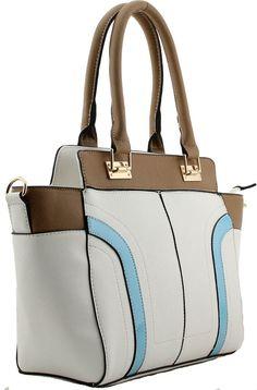Colour Blocking Fashion Color Colorful Tote Handbags Zipper