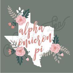 Alpha Omicron Pi | AOII | Texas State | Floral Design | Bid Day | Recruitment | Sisterhood | South by Sea | Greek Tee Shirts | Greek Tank Tops | Custom Apparel Design | Custom Greek Apparel | Sorority Tee Shirts | Sorority Tanks | Sorority Shirt Designs