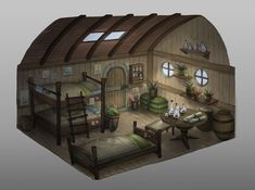 Where the banished prince lives. ArtStation - A little cabin, Jeng Shan Loh