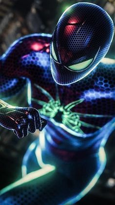 One of the most famous character from marvel series spiderman's dark wallpaper. The Dark Spiderman Photo Collection By WaoFam. Amazing Spiderman, Black Spiderman, Spiderman Art, Hulk Art, Spiderman Costume, Marvel Avengers, Marvel Comics, Marvel Heroes, Deadpool Wallpaper
