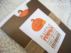 Little Pumpkin Baby Shower Invitation, Invite More Designs