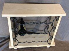 sloophouten bankje met wijnrek voor 12 flessen