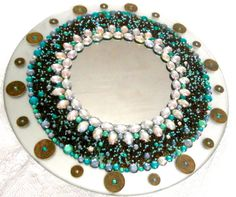 Mosaic Mirrors - Custom Made in Bead, Jewelry, Glass and/or Shell