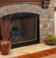 Refurbished my red brick fireplace with Brik Anew Cabin
