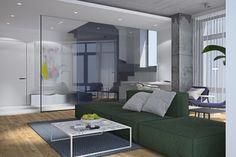 "Our new project ""PecherSKY"" Architecture Design, Divider, Living Room, Interior Design, Bed, Furniture, Nova, Behance, Home Decor"