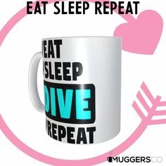 This, Eat Sleep Dive Repeat Coffee Mug makes for a cool funny gift that speaks of a person's passion for Diving. Great Gifts For Women, Funny Coffee Mugs, Eat Sleep, Funny Gifts, White Ceramics, Repeat, Best Gifts, Group Boards, Fitness Life