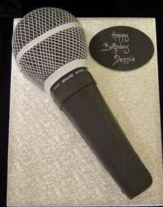 1000 Images About Microphone Cakes On Pinterest Music