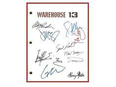 Warehouse 13 Pilot Episode TV Script, Autographed: Eddie McClintock, Joanne Kelly, Saul Rubinek, Genelle Williams, C.C.H. Pounder