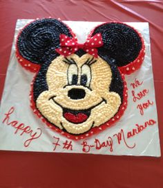 Marianita's minie mouse birthday cake