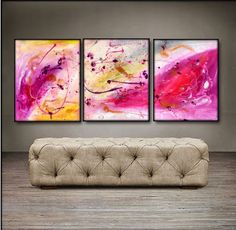 "'Peace Within' - 48"" X 20"" Original Paintings."