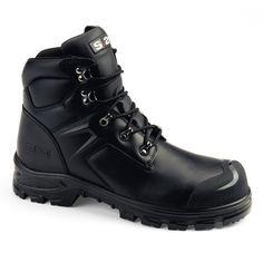 Chaussures de sécurité S.24 Ligne Worker Modèle Matrix S3 Réf. : 5372 • Tige cuir fleur noir • Doublure textile • Embout composite STC • Bout couvert DURATOE • Semelle anti-perforation inox • Semelle extérieure polyuréthane • Semelle intérieure FEELING • Semelle intermédiaire polyuréthane