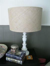 Burlap Lamp Shades Tutorial
