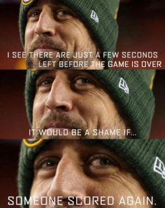 Aaron Rodgers Hail Mary strikes again ♥ Packers Memes, Packers Funny, Funny Football Memes, Packers Baby, Go Packers, Nfl Memes, Packers Football, Sports Memes, Greenbay Packers