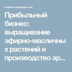 Прибыльный бизнес: выращивание эфирно-масличных растений и производство ароматических масел. — Блог Виталия Забудько