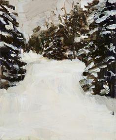 Gideon Rubin (Israeli, b. 1973), Snowy Path, 2010. Oil on linen, 61 x 51 cm.