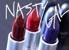MAC Nasty Gal Matte Lipsticks from the left: Runner, Stunner and Gunner