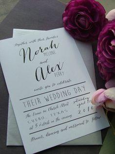 Black and white modern preppy  wedding by sweetinvitationco, $100.00