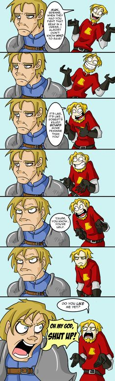 Jaime & Brienne : Try Throwing Pencils At Her by ~Animeshen on deviantART