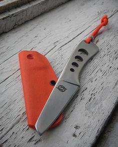 EDC Fulltang necker by Krava knives . Х12мф tool steel.