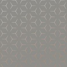 The clever Illusion Geometric Wallpaper changes pattern before your eyes depending on the viewing angle and light. Available in copper and charcoal grey. Free UK delivery available Geometric Wallpaper Charcoal, Pattern Matching, Paper Wallpaper, High Quality Wallpapers, Free Uk, Cubes, Blue Gold, Mood Boards, Illusions